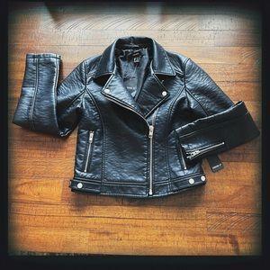 Forever 21 Faux Leather Moto Jacket Sz Sm NWT